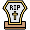 dead, funeral, gravestone, scary, tomb icon