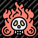 burn, hell, inferno, skull, soul