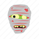 dead, face, horror, skull, tattoo, zombie icon