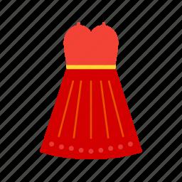 costume, dress, halloween costume, halloween dress, paty dress, skirt icon