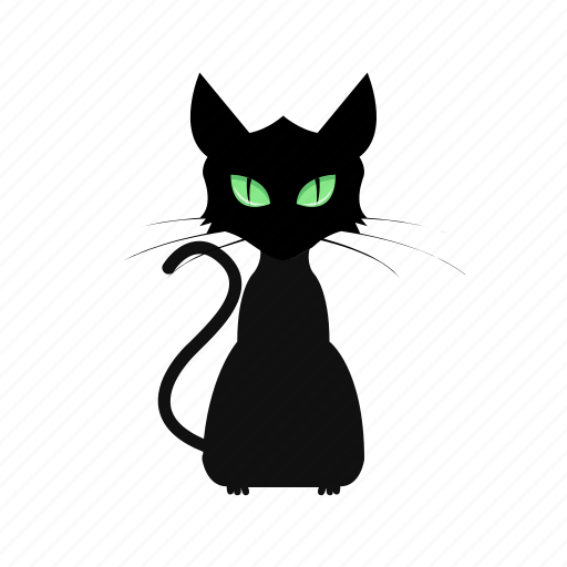animal, cartoon, cat, face, halloween icon