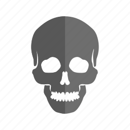 face, head, horror, scary, skeleton, skull, teeth icon