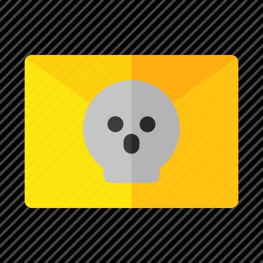 address, envelope, halloween, horror, mail, message icon