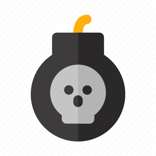 bomb, danger, dead, explosive, halloween, war icon