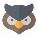 bird, halloween, night, owl icon