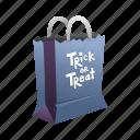 paper bag, holidays, spooky, trick or treat, halloween, horror, bag