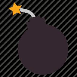 bomb, boom, explosive, halloween, sparkles icon