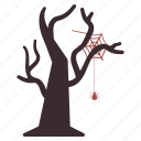 bug, halloween, insect, spider, tree, web icon