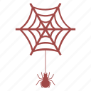 bug, halloween, insect, net, spider, web icon