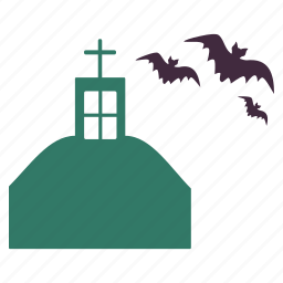 bats, building, haunted, home, house, mansion icon