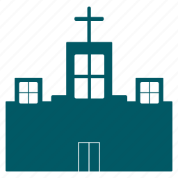 building, castle, chruch, cross, haunted, house, mansion icon