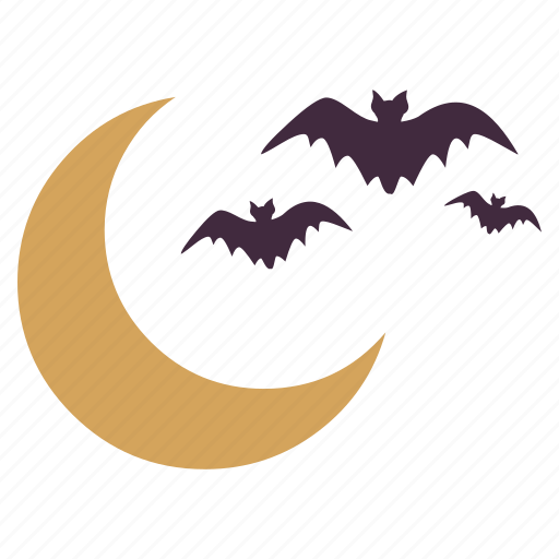 bats, flying, halloween, moonnight, scary, spooky icon