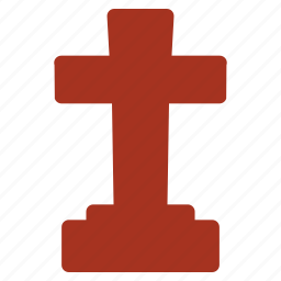 cemetery, cross, grave, halloween, rip icon