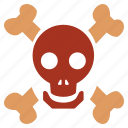dead, face, halloween, horror, skull, tattoo, zombie icon