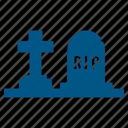 death, funeral, grave, gravestone, graveyard, rip, stone icon
