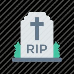 cemetery, coffin, grave, tombstone icon