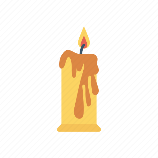 candle, flame, light, memorial icon