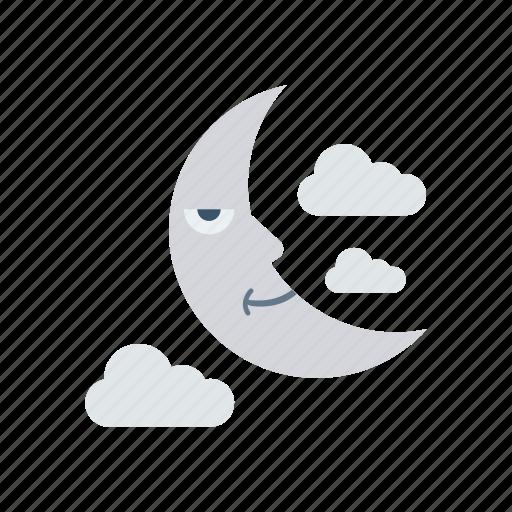 cloud, moon, night, stars icon