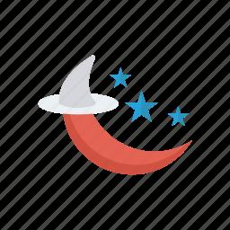 moon, night, star, weather icon