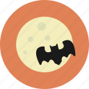 bat, halloween, moon, night icon