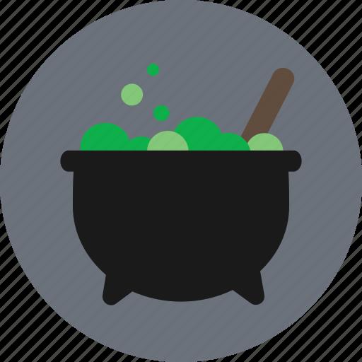 bubble, cauldron, halloween, magic, potion icon