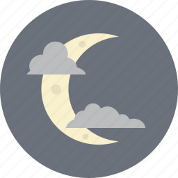 cloud, clouds, crescent, moon, night, sleep, weather icon