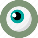 ball, blue, blue eye, eye, eye ball, eyeball icon
