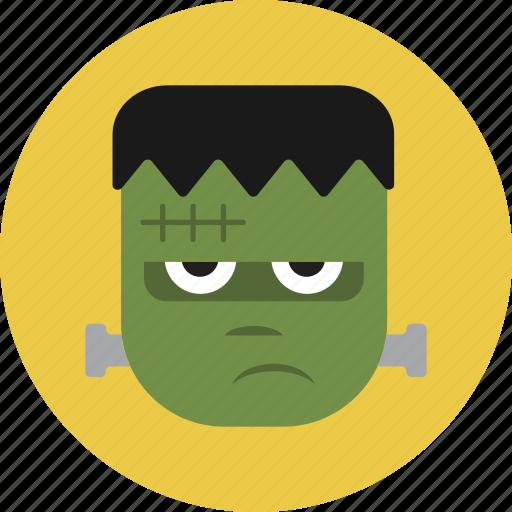 face, frankenstein, halloween, monster icon