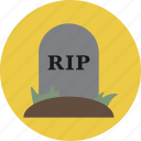 grave, halloween, rip, tombstone icon