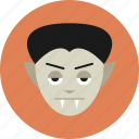 dracula, halloween, monster, vampire, werewolf icon