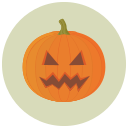 angry, halloween, pumpkin icon