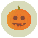 goofy, halloween, pumpkin icon