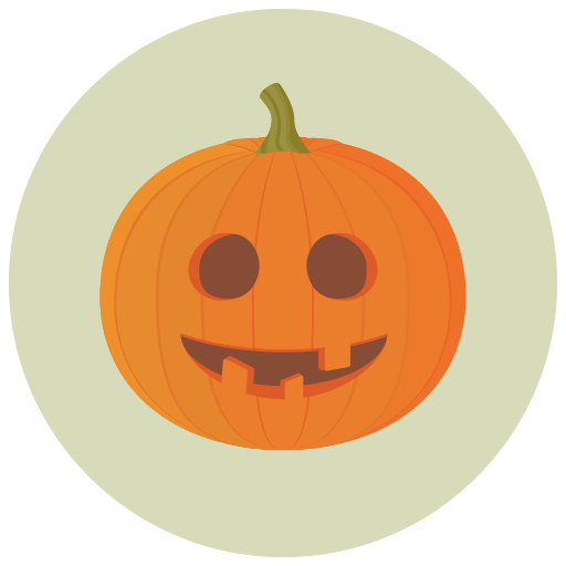 goofy, halloween, pumpkin icon