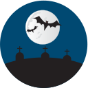grave yard, graves, halloween icon