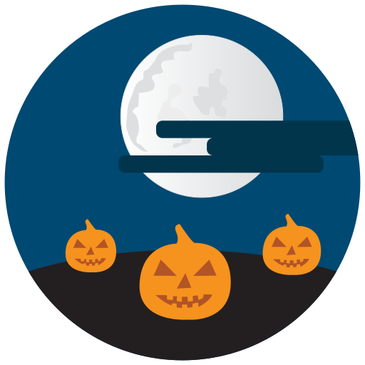 halloween, night, pumpkins icon