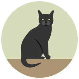 angry, black cat, halloween icon