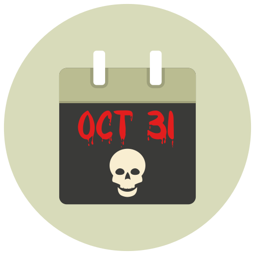calendar, halloween, october 31 icon