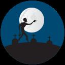 grave yard, graves, halloween, zombie