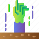 ghost, halloween, hand, horror, scary, spooky, zombie icon