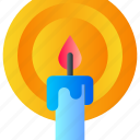 candle, light, night icon