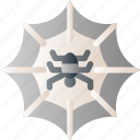 halloween, horror, insect, scary, spider, spider web icon