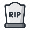 grave, halloween icon