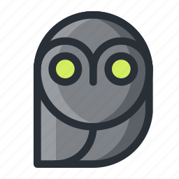 halloween, owl icon