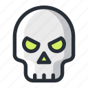 halloween, skull icon