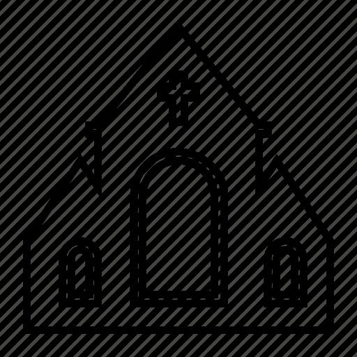 building, church, festival, spooky icon