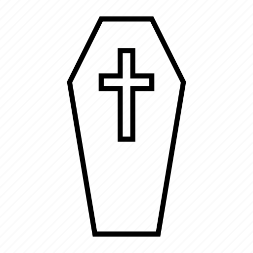 coffin, death, festival, halloween, holiday, spooky icon