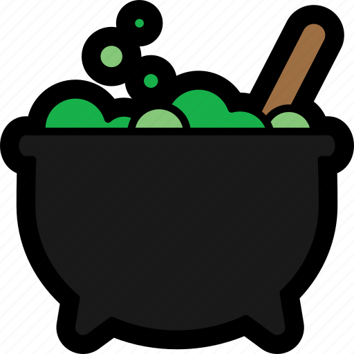 bubble, cauldron, halloween, magic, potion icon
