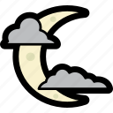 cloud, crescent, halloween, moon, night, sleep icon
