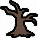 dead, halloween, horror, nature, scary, tree icon