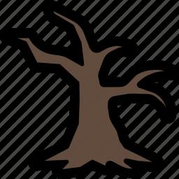 dead, halloween, horror, nature, scary, tree icon